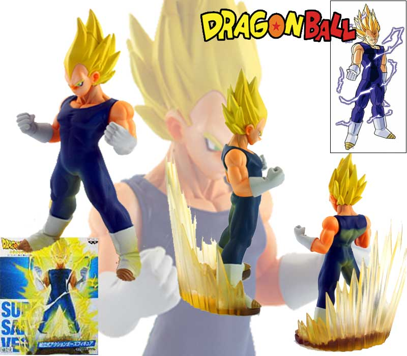 AA087 - DRAGONBALL Z DRAGON BALL FIGURE SUPER SAIYAN VEGETA 412 - FREE